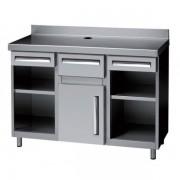 Muebles Cafeteros 990X600X1045h mm 1 estante 1 cajon MCA-100
