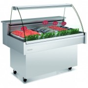 Vitrinas Refrigeradas Pescaderia Bastidor Abierto Con Ruedas 1035X890X1283h mm EEC-100-CC