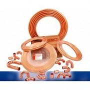 Tubería de cobre sin aislamiento 1/4. Rollos 15,25m.